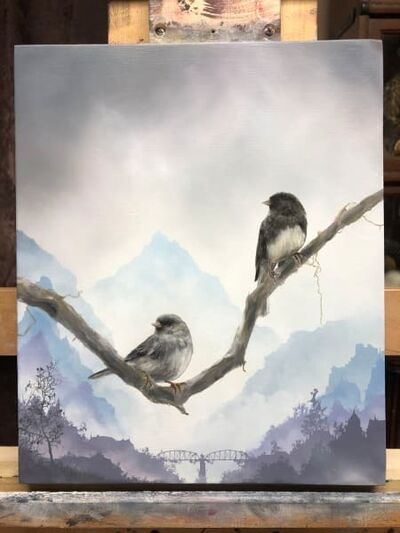Brian Mashburn, 'Winter (Dark-Eyed Juncos)', 2020