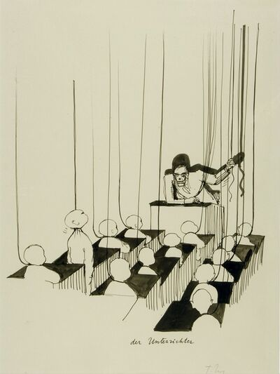 Tomi Ungerer, 'Der Unterrichter (The Teacher)', c. 1980