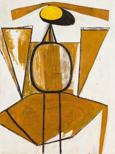 Robert Motherwell, 'Personage, with Yellow Ochre and White', 1947