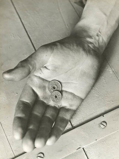 Geza Vandor, 'Hand with French Centimes', 1930c/1930c