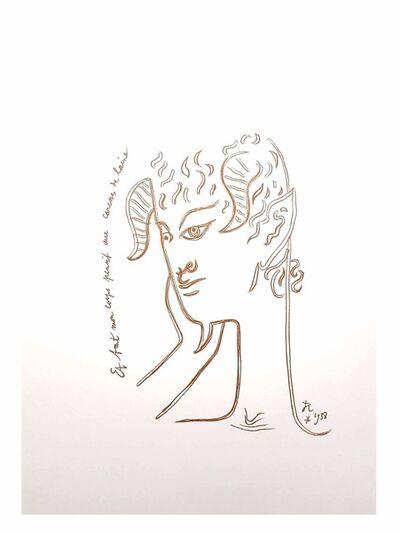 """Jean Cocteau, 'Original Lithograph """"Reflections"""" by Jean Cocteau', 1958"""
