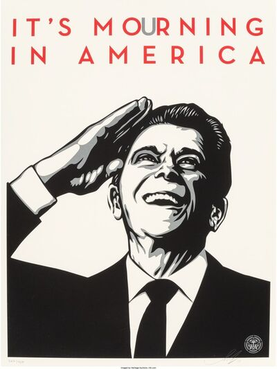 Shepard Fairey, 'It's Mourning in America', 2011