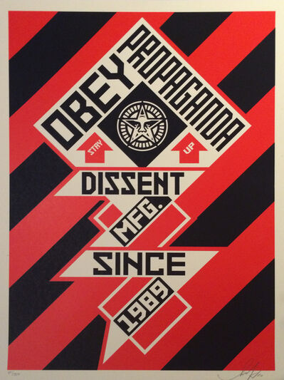 Shepard Fairey, 'Constructivist Banner Black', 2010