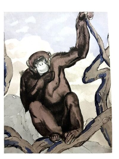 "Paul Jouve, 'Original Etching ""Chimpanzee"" by Paul Jouve', 1950"