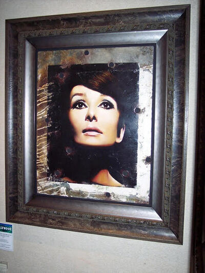 Bill Mack, 'Bill Mack Sophisticate Beauty—Audrey Hepburn Original Hollywood Sign Mixed Media Unique Print Contemporary Art ', 1980-2010