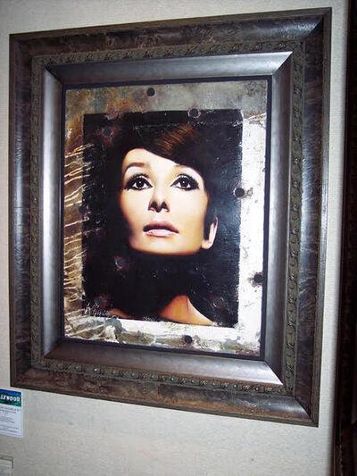 Bill Mack, 'Bill Mack Sophisticate Beauty—Audrey Hepburn Original Hollywood Sign Mixed Media Unique Print Contemporary Art ', 1980-2010