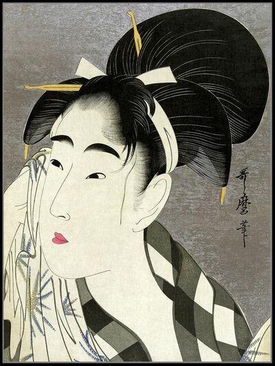 Kitagawa Utamaro, 'Woman Wiping Her Face', 1780-1800