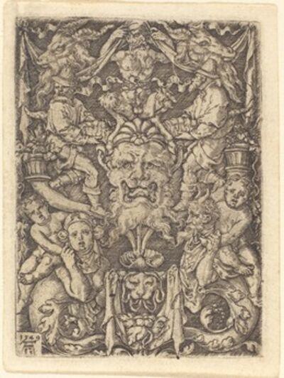 Heinrich Aldegrever, 'Ornament with Mask', 1549