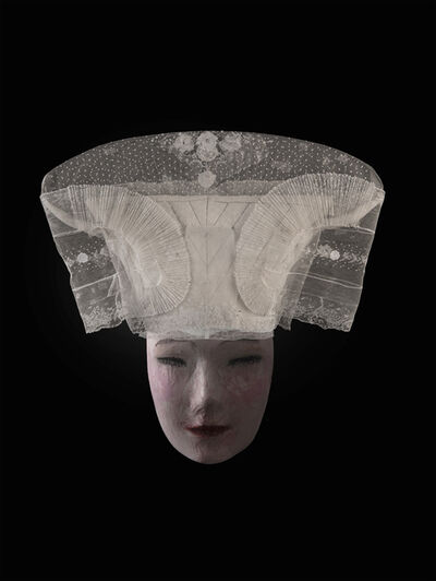 Christine Mathieu, 'Coiffe de tête dite « ballon », XIXe siècle. Ile d'Oléron (Charente-Maritime). Tulle, broderie, coton piqué, ruban, métal. Collection MUCEM.', 2019
