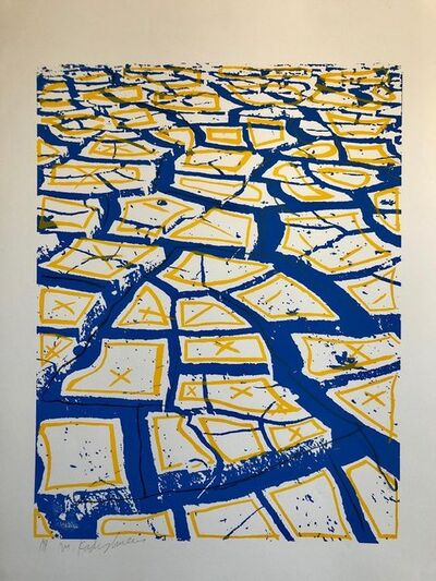 Menashe Kadishman, 'Israeli Modernist Silkscreen Print Cracked Earth Art Kadishman Lithograph', Late 20th Century