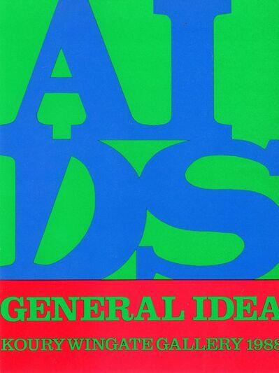 General Idea, 'Koury Wingate Gallery, General Idea, AIDS, Card', 1968