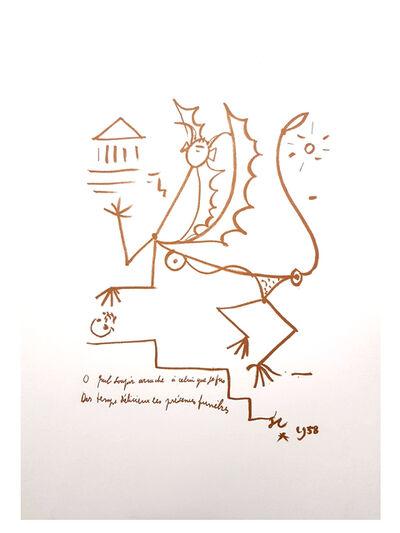 """Jean Cocteau, 'Original Lithograph """"Surrealist Creature"""" by Jean Cocteau', 1958"""
