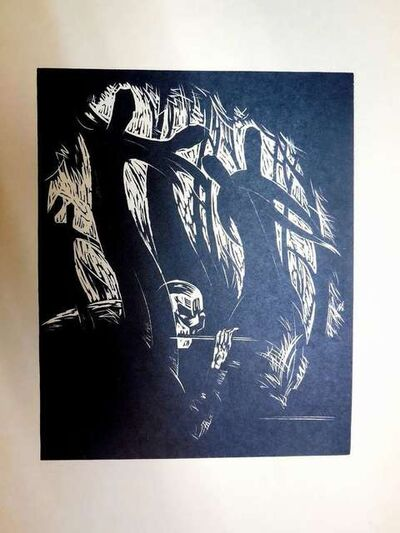 Arthur Kolnik, 'Expressionist woodcut', 1930-1939