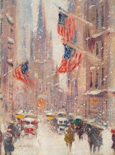 Guy Carleton Wiggins, 'Wall Street Winter', 19th -20th Century