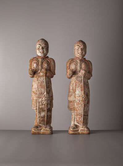 Northern Qi period, 'Warriors', China, Northern Qi period (549, 577AD)