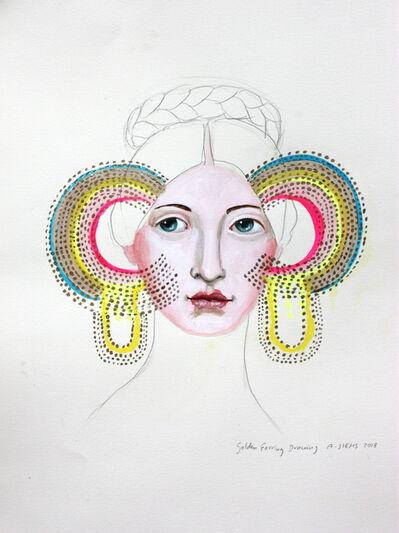 Anne Siems, 'Golden Earring Drawing', 2018