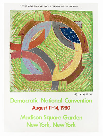 Frank Stella, 'Democratic National Convention 1980 SIGNED (Polar Coordinate IV 1980)', 1980