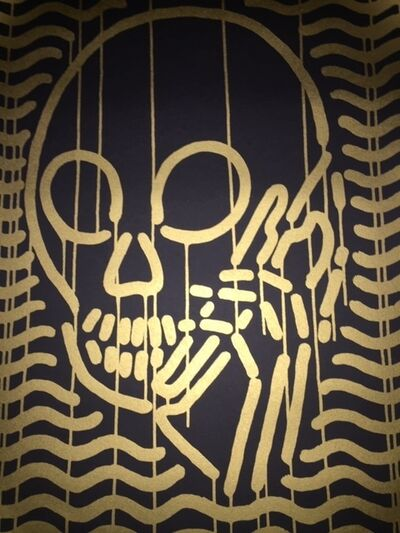 "Skullphone, 'Mop Gold ""Black & Gold""', 2015"