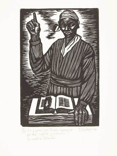 Elizabeth Catlett, 'IN SOJOURNER TRUTH I FOUGHT FOR THE RIGHTS OF WOMEN AS WELL AS BLACKS', 1946