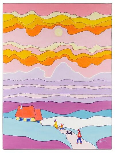 Ted Harrison, 'Happy Clouds', 1980
