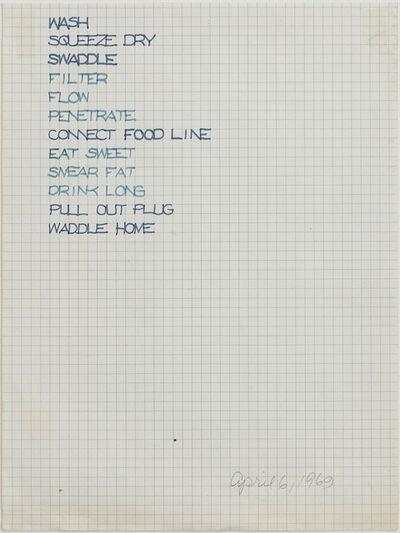 Rosemarie Castoro, 'Untitled (Concrete Poetry)', 1969
