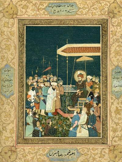 India, Mughal, 'Aurungzeb Imprisoning his Father Shah Jahan', ca. 1900