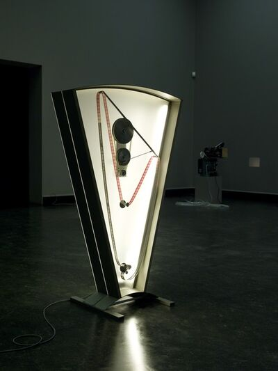Rosa Barba, 'Color Clock (red): Verticals Lean Occasionally Consistently Away from Viewpoints', 2012