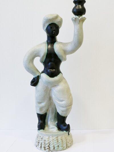 Georges Jouve, 'Art Deco Ceramic Torchere, by Georges Jouve', ca. 1945