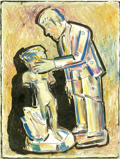 Viola Frey, 'Untitled (Robot Man and Sculpture)', 1980