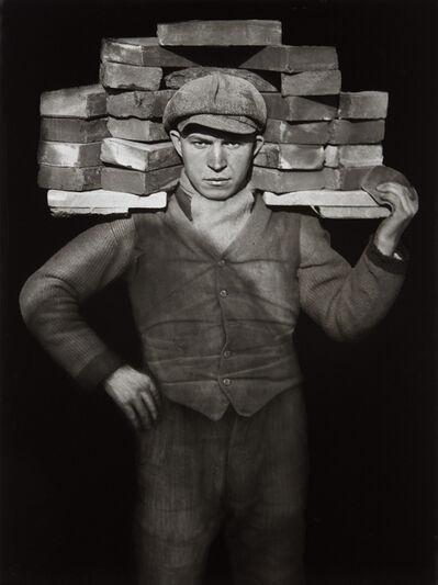 August Sander, 'Handlanger (Bricklayer)', 1928-printed 1990 by Gerd Sander