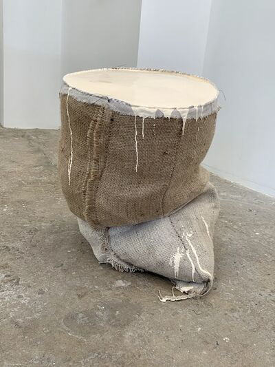 Howard Schwartzberg, 'Beige Sack Painting', 2018