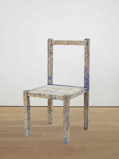 Bob Law, 'Blue chair', 1982