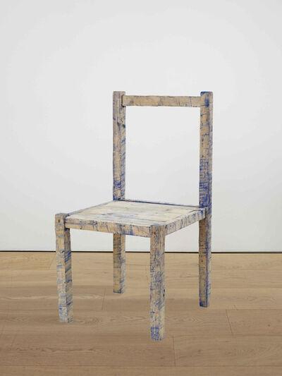 Bob Law, 'Blue chair', 1982