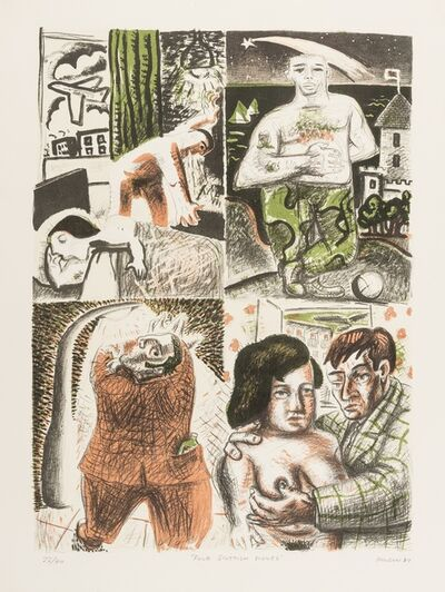 Peter Howson, 'Four Scottish Scenes', 1982