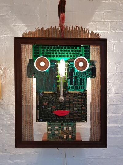 Philip Hardaker, 'Digital Green Man', 1994