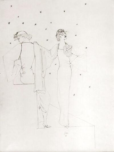 Jean Cocteau, 'Robes du soir sur fond étoile ', ca. 1935