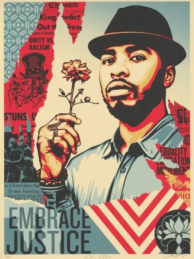 Shepard Fairey (OBEY), 'Embrace Justice', 2017