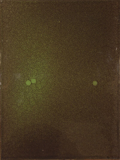 Tom Burrows, 'Green/Brown with 3 Spots', 2011