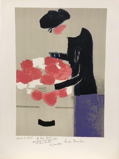 Andre Brasilier, 'Chantal au bouquet', 1961