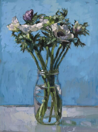 Laurent Dauptain, 'Anémones blanches', 2020