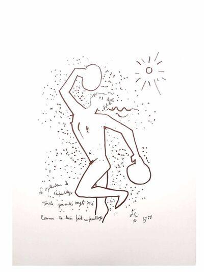 """Jean Cocteau, 'Original Lithograph """"The Boxer"""" by Jean Cocteau', 1958"""