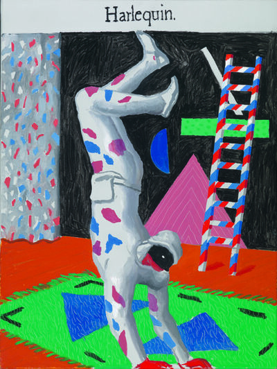 David Hockney, 'Harlequin [Arlequin]', 1980