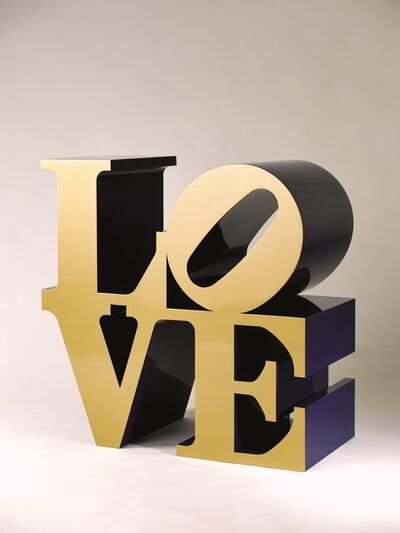 Robert Indiana, 'Love (Gold faces – Bleu sides)', Conceived in 1966 and executed in 2000