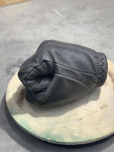 Fabio Viale, 'Black fist', 2021