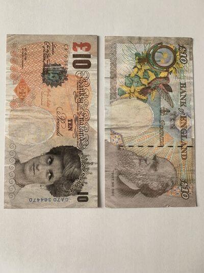 Banksy, 'GENUINE, BANKSY DI-FACED TENNER', 2004