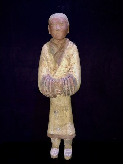 Han Dynasty, 'Elegant Han Dynasty Terracotta Warrior – China '206 BC – 220 AD' – TL Tested'