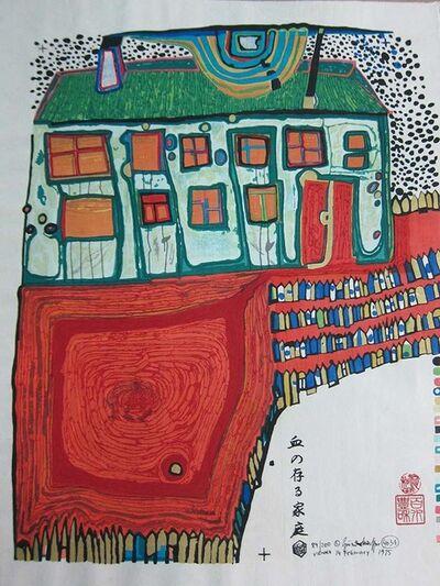 Friedensreich Hundertwasser, 'Blutregenfieberhaus', 1975