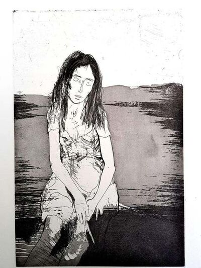 Jean Jansem, 'Jean Jansem - Loneliness  - Original Etching', 1973