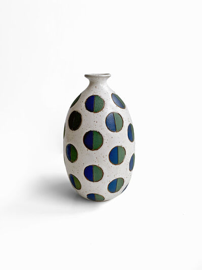 Matthew Ward, 'White Split Polka Dot Vase', 2019