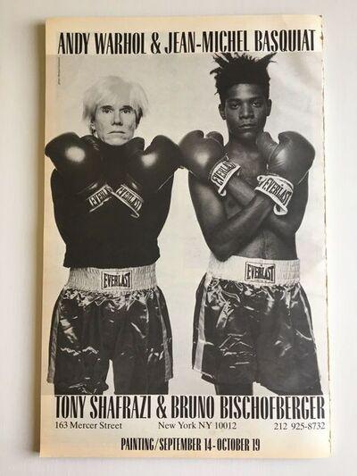 Andy Warhol, 'BASQUIAT WARHOL 1985 EXHIBITION POSTER (WHITE VERSION)'